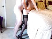 Old man makes sex with young amateur girl and cums in her pussy