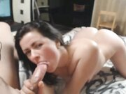 Superb wife with big butt is fucked in the ass by husband