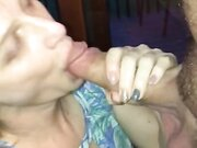 Cute amateur wifey swallows cock and cum