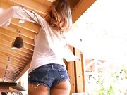 Hot girl public flashing