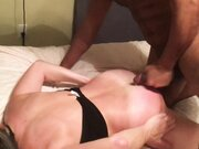 Married Woman rough doggystyle and cumshot with black stud