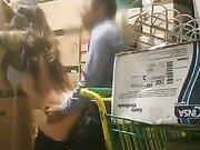 Hidden camera filmed manager pounding female employee in warehouse