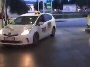 Man getting a free fellatio in a public gas station