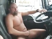 Hooker fucks with truck driver in the truck